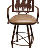 Mexican Iron Bar Stool