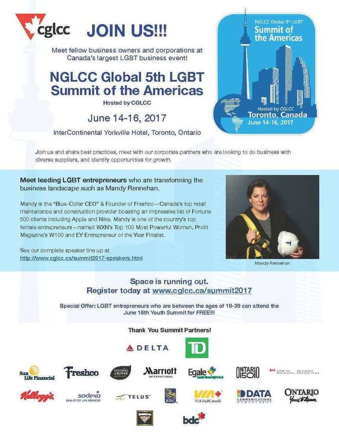 NGLCC Global 5th LGBT Summit of the Americas – Hosted by CGLCC