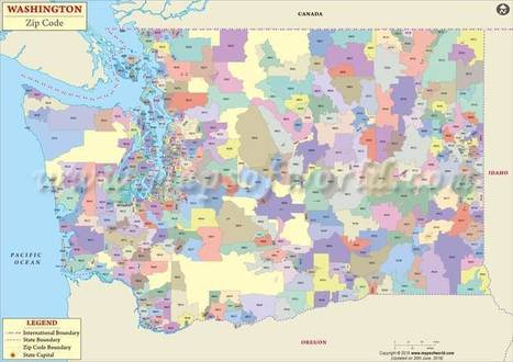 Washington Zip Code Map, Washington Postal Code