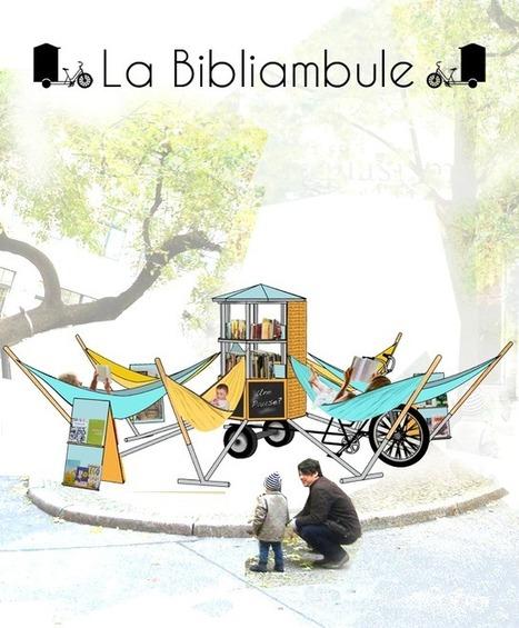 La bibliambule, une bibliothèque ambulante pour l'espace public | Rapprocher les bibliothèques-médiathèques de la vraie vie | Scoop.it