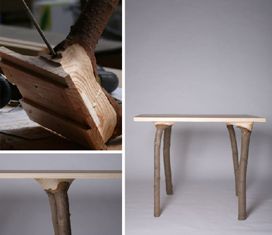 Branch to Bark: Naturally Unfinished Set of Wood Furniture | corinne chatelain | Scoop.it