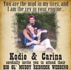 Couple tie the knot at their 'big ol' muddy redneck wedding' | MORONS MAKING THE NEWS | Scoop.it