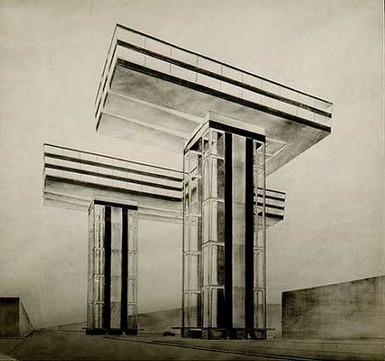 architectureofdoom:Wolkenbügel, El Lissitzky, 1923-23   Affinities   Scoop.it
