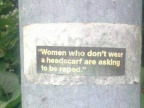 Sweden: Stickers appear in small town demanding women to wear headscarf or be raped – democracy to be replaced by Islam | Krylbo en del av europa | Scoop.it