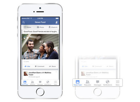 Facebook iOS app gets a facelift, gives iPhone users a new ... | News in Social Networks | Scoop.it