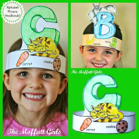 The Moffatt Girls: Alphabet Phonics Headbands! | Literacia no Jardim de Infância | Scoop.it