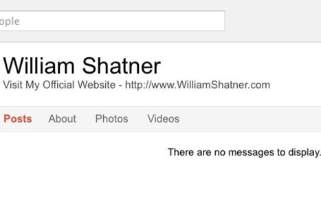 Shatner Google+ account restored after takedown | The Google+ Project | Scoop.it