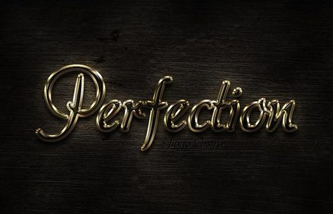 Learn how to create a shiny gold text effect in Photoshop   Photoshop Text Effects Journal   Scoop.it