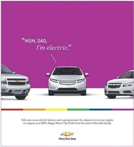 Pub: Le coming-out d'une Chevrolet | Yagg | Actu LGBT | Scoop.it