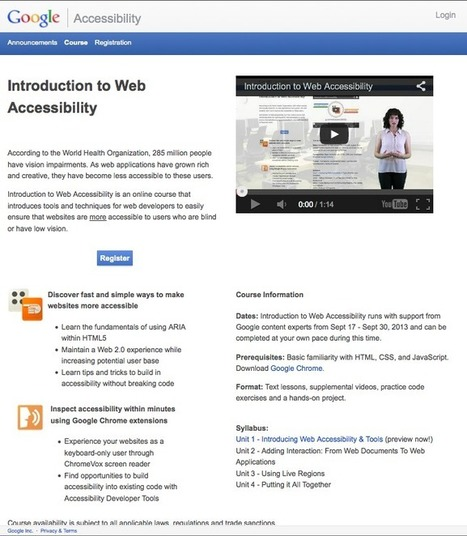 Google - Web Accessibility is NOT Just for Blind | flamebelly | Scoop.it