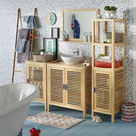 meuble salle de bain bambou alinea