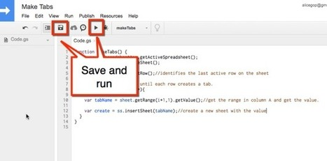 Google Apps Script: Create New Tabs - More time savers from @AliceKeeler | Lund's K-12 Technology Integration | Scoop.it