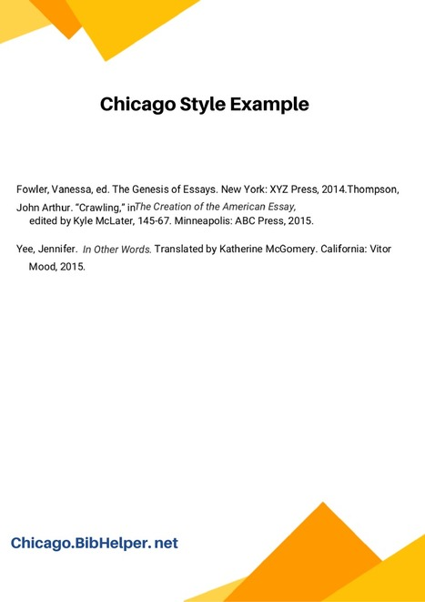 Chicago Style Example | Bibliography Samples UK...