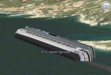L'épave du Costa-Concordia dans Google Earth   Les news du Web   Scoop.it