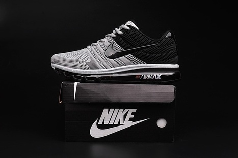 hot sale online 58f5c 89657 Nike Air Max 2017 Men Grey Black Shoes  airmax-108  -  65.99
