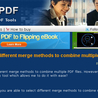 How to select different merge methods to combine multiple PDF files?
