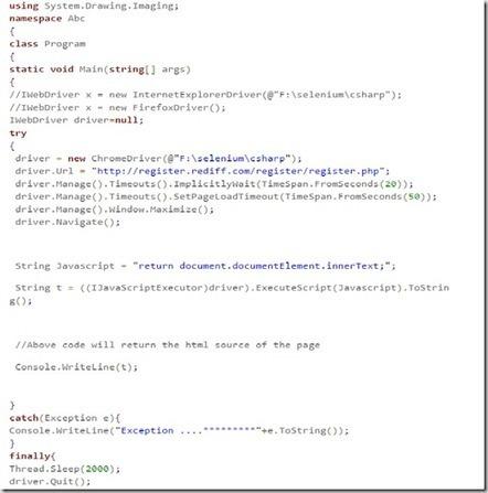 Execute JavaScript Using Selenium WebDriver - A