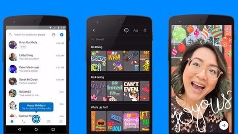 Facebook copie (encore) Snapchat et lance des photos augmentées sur Messenger - Blog du Modérateur | Culture numérique | Scoop.it
