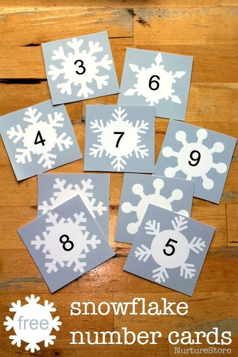 Free snowflake printable for math and language activities - NurtureStore | Learn through Play - pre-K | Scoop.it