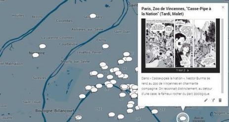 CARTE INTERACTIVE. L'Ile-de-France en bande dessinée | To Art or not to Art? | Scoop.it