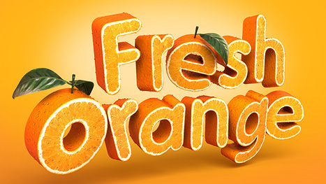 Photoshop : Create a 3D, Fruit-Textured, Text Effect - Tutorial | Time to Learn | Scoop.it