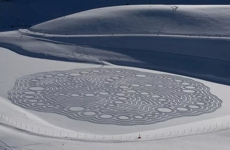 Crop Circle de neige | montagne | Scoop.it