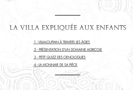 Villa villae: la villa expliquée aux enfants   Salvete discipuli   Scoop.it