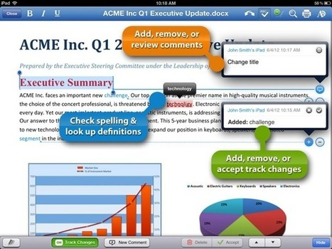QuickOffice For iPad Adds Track Changes And Comments For Word Files | Gates | Scoop.it