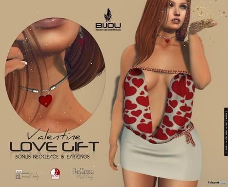 Kyara Dress With Earrings & Necklaces Group Gift by Bijou | Teleport Hub - Second Life Freebies | Second Life Freebies | Scoop.it