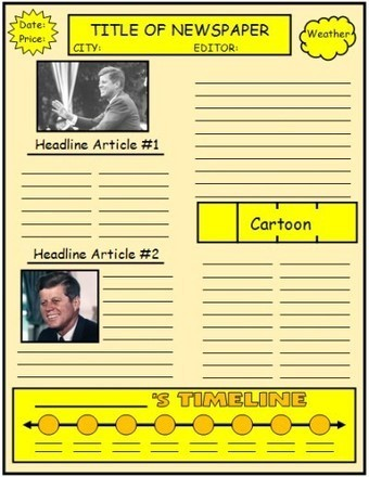 Biography Book Report Newspaper:  templates, printable worksheets, and grading rubric | WEB.02 tools for creative  EFL ESL learning & teaching | Scoop.it