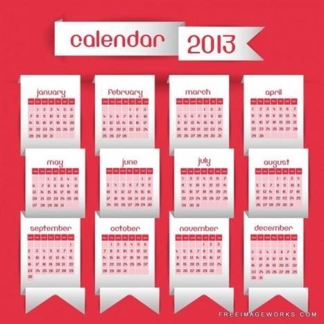 9 Free & Premium 2013 Calendar Vectors | 7plusDezine | Web & Graphic Design | Scoop.it