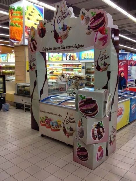 Ice Cream Displays - The King's Brand Provides an In-Store Carnival Experience (TrendHunter.com) | Urban eating | Scoop.it