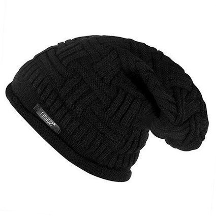 Noise Black Cross Knitted Slouchy Winter Beanie Caps Online – Gonoise f4ea53a9c7c