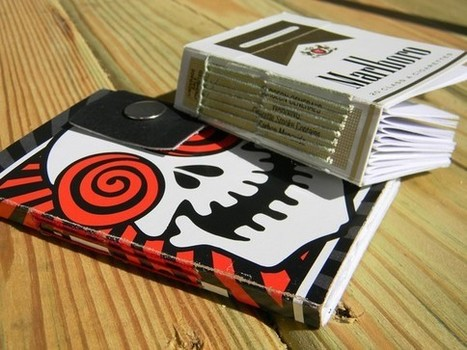 NoteBooks Made From Recycled Cigarette Packaging | Craft Business | Scoop.it