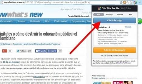 Cite This For Me, extensión para citar páginas web con un sólo clic | Bibliotecas Escolares do S. XXI | Scoop.it