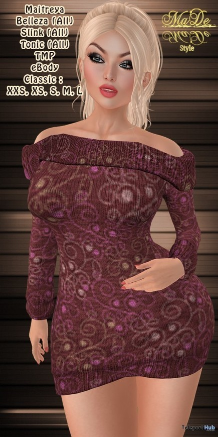 c8f1ce3045 Nela Roll Neck Sweater Dress January 2019 Group Gift by  Ma De  Style