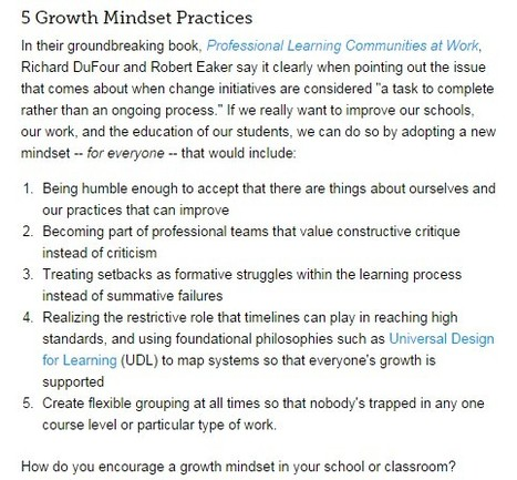 Growth Mindset: A Driving Philosophy, Not Just a Tool | innovation in learning | Scoop.it