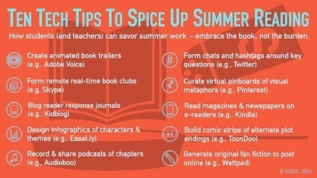 10 Tech Tips To Spice Up Summer Reading | Design in Education | Scoop.it
