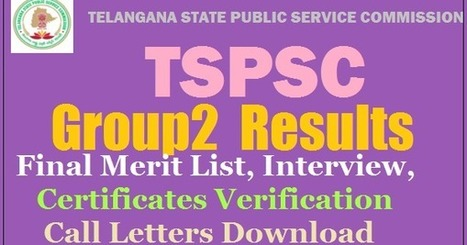 TSPSC Group 2 Results 2017 Released Download M