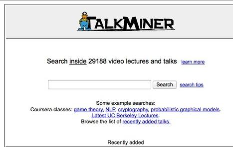TalkMiner | videosforlearning | Scoop.it