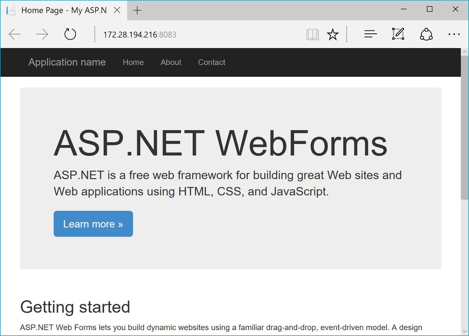 Convert ASP NET Web Servers to Docker with Image2Docker