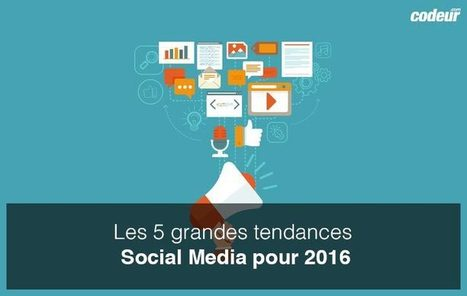 5 grandes tendances #SocialMedia pour 2016 | Communication Digital x Media | Scoop.it