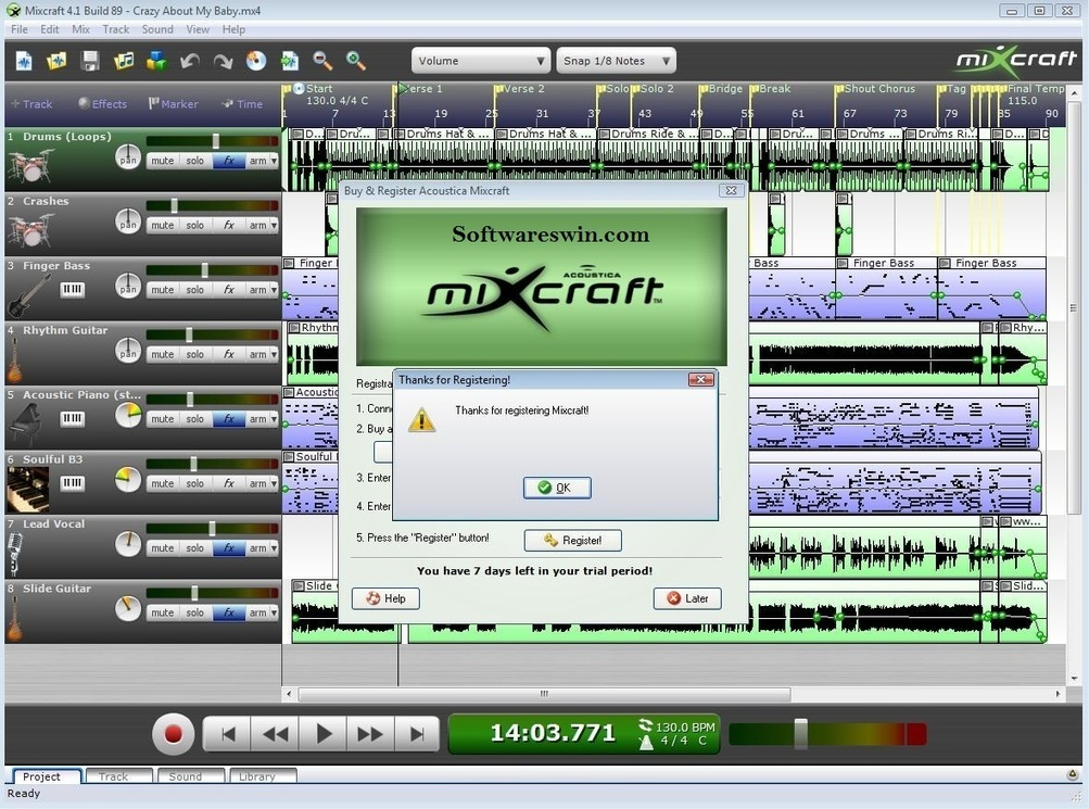 Mixcraft free full version download   Mixcraft 8 Crack +