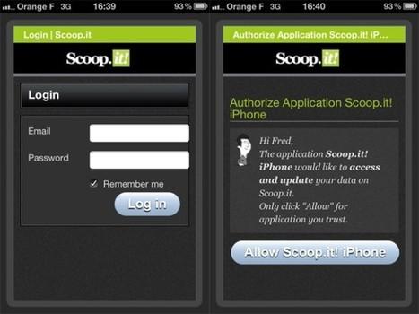 Scoop.it est maintenant disponible sur iPhone | mlearn | Scoop.it