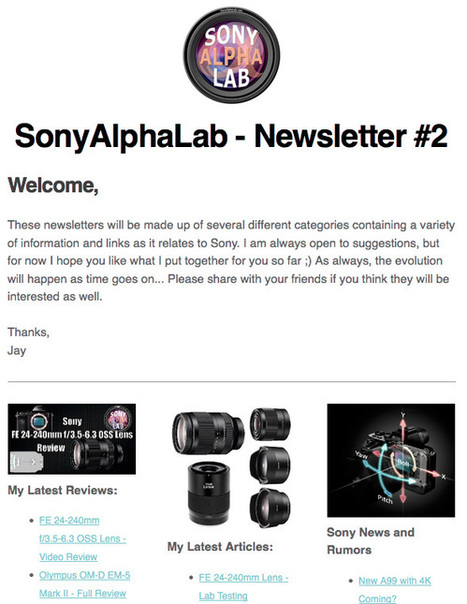 SonyAlphaLab – How to Use the Website, Updates, and Other Resources.. | Sony News, Rumors and Killer Photography Gear Deals!! | Scoop.it