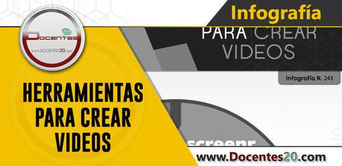 ✍ INFOGRAFÍA: HERRAMIENTAS PARA CREAR VIDEOS | DOCENTES 2.0