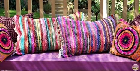 Tappeti In Tessuto Riciclato : Come fare un cuscino con un tappeto senza cucir