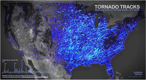 Historical Tornado Data Visualized | Developing Spatial Literacy | Scoop.it