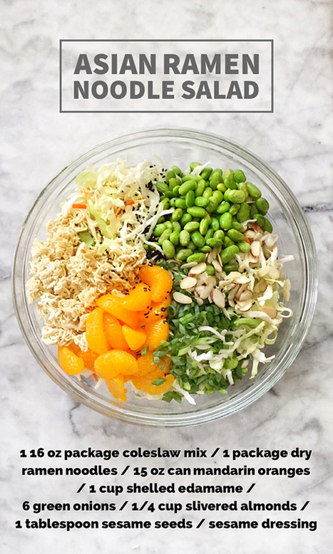 Asian Ramen Noodle Salad Recipe | foodiecrush.com | Vegetarian and Vegan | Scoop.it