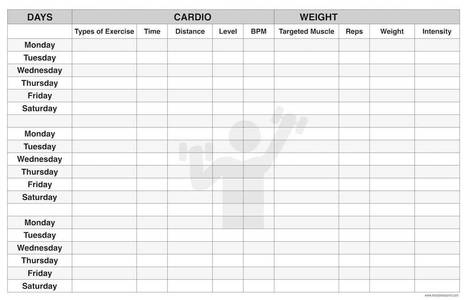 photograph regarding Printable Workout Plans for Men identified as Exercise session Method Template for Males, Females toward reduce We